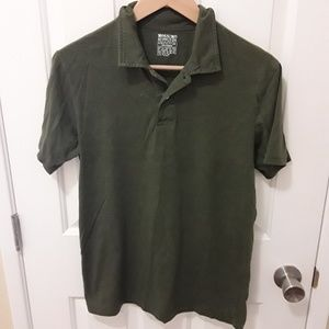 Mens Army Green Polo